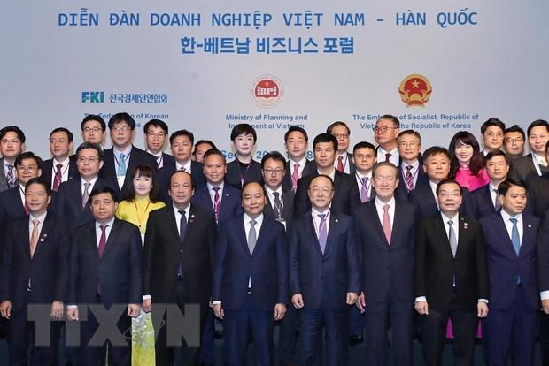 Thu tuong Nguyen Xuan Phuc du Dien dan Doanh nghiep Viet Nam-Han Quoc hinh anh 1