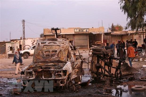 Syria: Khong kich vao cho, it nhat 10 dan thuong thiet mang hinh anh 1