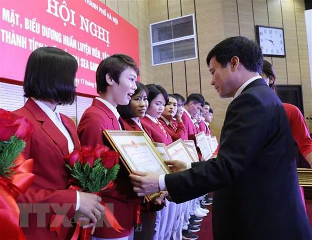 Ha Noi thuong hon 6 ty dong cho cac VDV doat huy chuong tai SEA Games hinh anh 1