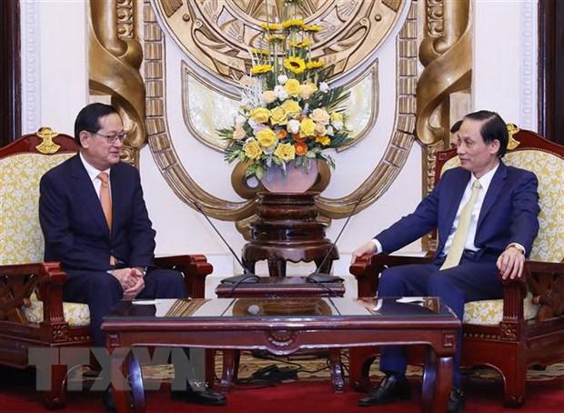 Viet Nam-Campuchia hoan thien cac cua khau dap ung nhu cau nguoi dan hinh anh 1