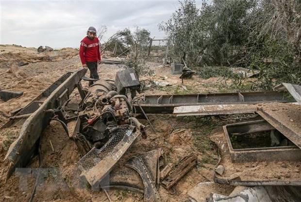 May bay chien dau Israel tan cong cac can cu cua Hamas tai Dai Gaza hinh anh 1