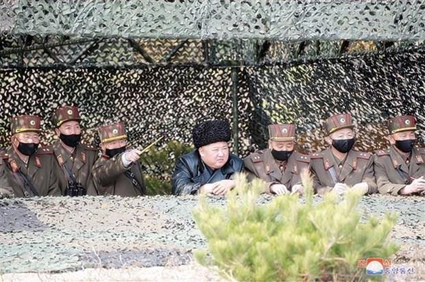 Ong Kim Jong-un giam sat vu thu nghiem vu khi dan duong chien thuat hinh anh 1