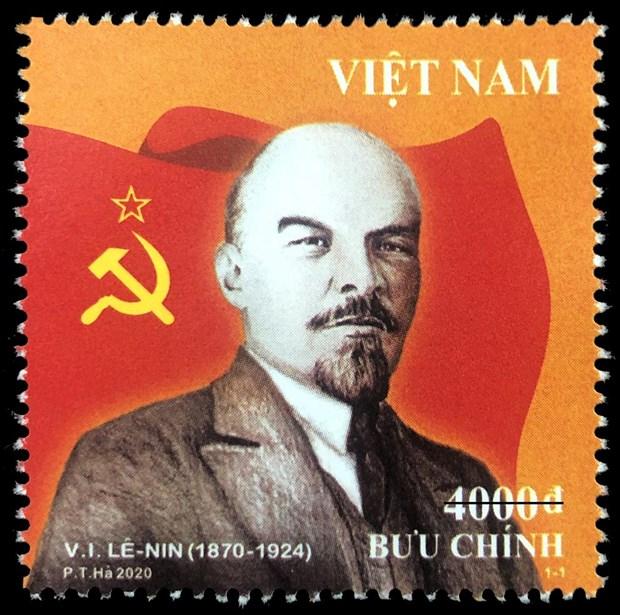 Phat hanh bo tem nhan ky niem 150 nam ngay sinh V.I.Lenin hinh anh 1