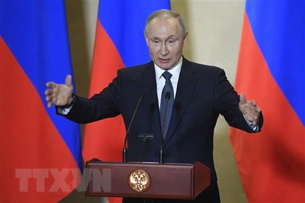 Ong Putin bay to tin tuong nguoi dan Nga ung ho sua doi Hien phap hinh anh 1