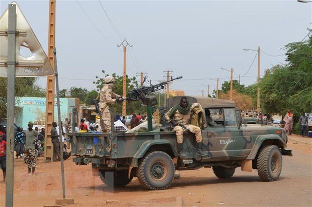 Mali: Doan xe quan su bi phuc kich, nhieu binh sy thiet mang hinh anh 1