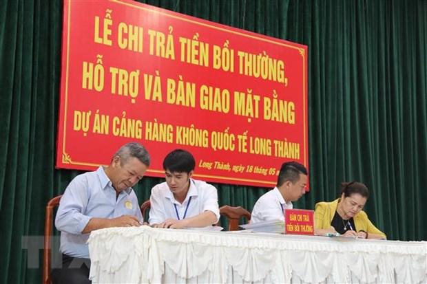 Tiep tuc boi thuong, ho tro nguoi dan vung du an san bay Long Thanh hinh anh 1
