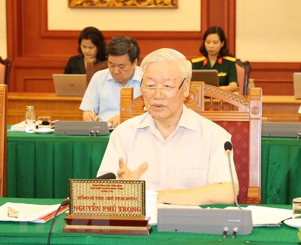 Tap the Bo Chinh tri lam viec voi Thuong vu Quan uy Trung uong hinh anh 2