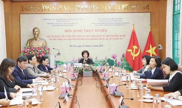 Viet Nam va Nga to chuc hoi nghi truc tuyen ve Chu tich Ho Chi Minh hinh anh 1