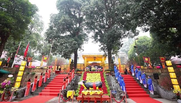 Ha Noi: Phuc dung nghi le cung dinh tai Hoang thanh Thang Long hinh anh 1