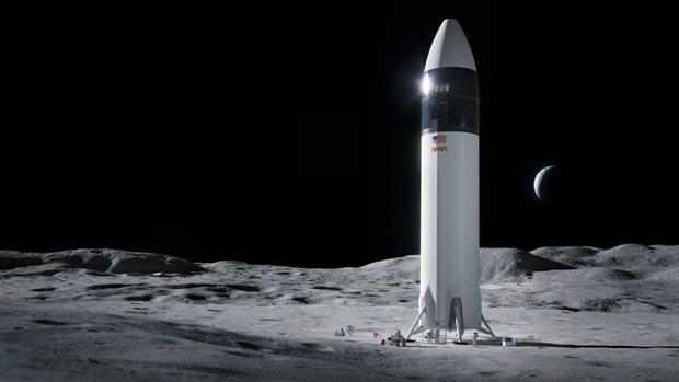 Space X gianh hop dong phat trien tau vu tru dua nguoi len Mat Trang hinh anh 1
