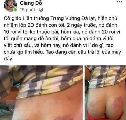 Lam Dong: Tam dinh chi cong tac giao vien danh hoc sinh hinh anh 1