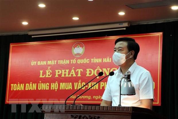 Hai Duong van dong duoc hon 70 ty dong mua vaccine phong COVID-19 hinh anh 1