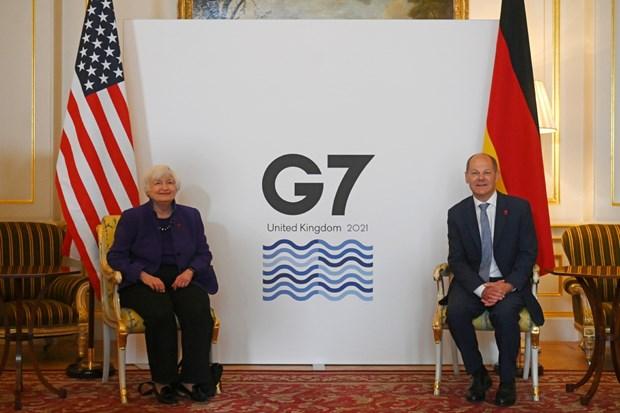 G7 gan tien sat thoa thuan ve thue doanh nghiep toan cau hinh anh 1