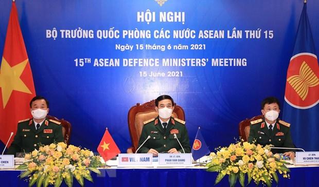 Hoi nghi truc tuyen Bo truong Quoc phong cac nuoc ASEAN lan thu 15 hinh anh 1