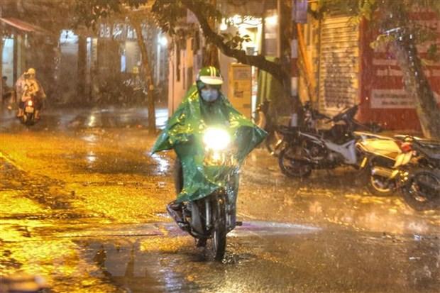 Cơn mưa tối 22/6 đã giải nhiệt cho Thủ đô Hà Nội. (Ảnh: Tuấn Đức/TTXVN)
