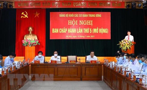 Hoi nghi Ban Chap hanh Dang bo Khoi cac co quan TW lan thu 5 mo rong hinh anh 1
