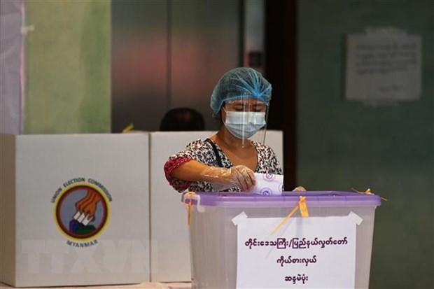 Chinh quyen quan su Myanmar huy ket qua bau cu nam 2020 hinh anh 1