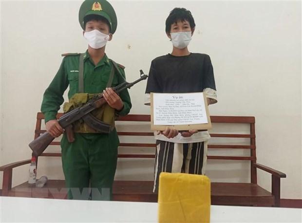Dien Bien: Bat qua tang doi tuong van chuyen heroin trai phep hinh anh 1