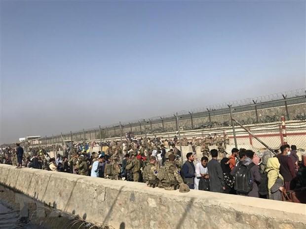 Tinh hinh Afghanistan: Dung do o san bay Kabul, co thuong vong hinh anh 1