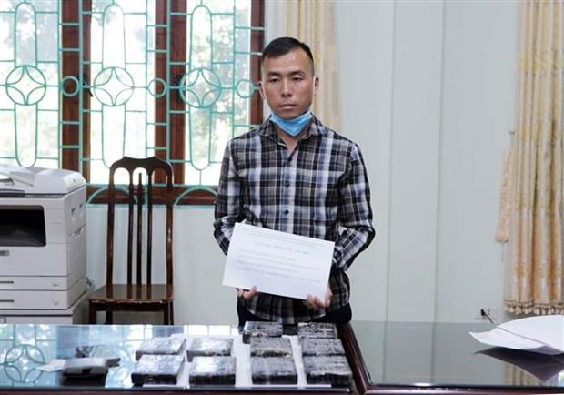 Lai Chau: Pha chuyen an mua ban ma tuy lon, thu giu 10 banh heroin hinh anh 1