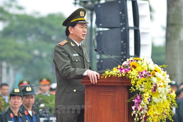Bo truong Tran Dai Quang phat lenh xuat quan bao ve Dai hoi Dang hinh anh 2
