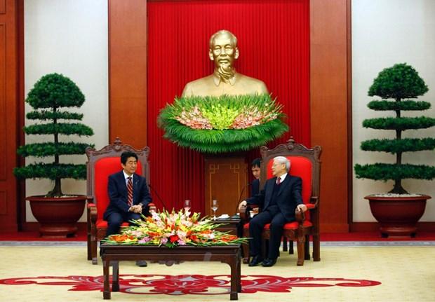 Tong Bi thu Nguyen Phu Trong tiep Thu tuong Nhat Ban Shinzo Abe hinh anh 5