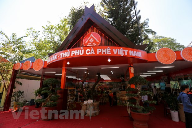 Nhung gian hang doc dao tai Le hoi caphe Buon Ma Thuot 2017 hinh anh 5