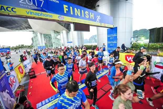 Hang ngan van dong vien 'doi ret' chinh phuc 42km marathon o Ha Long hinh anh 1