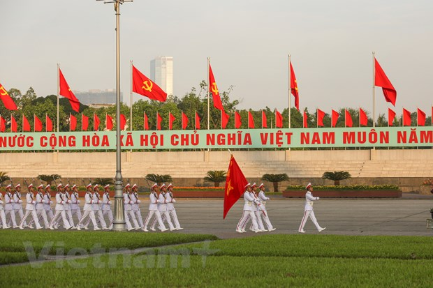 Le chao co tai Quang truong Ba Dinh trong ngay Sinh nhat Bac hinh anh 5