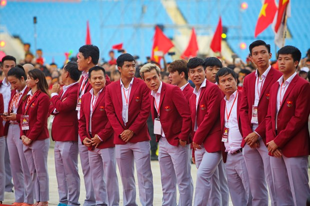 Toan canh le vinh danh tuyen Olympic va doan the thao Viet Nam hinh anh 4