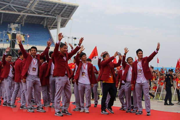 Toan canh le vinh danh tuyen Olympic va doan the thao Viet Nam hinh anh 5