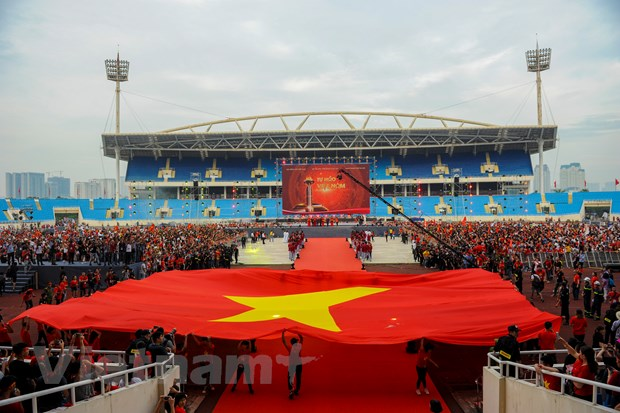 Toan canh le vinh danh tuyen Olympic va doan the thao Viet Nam hinh anh 8