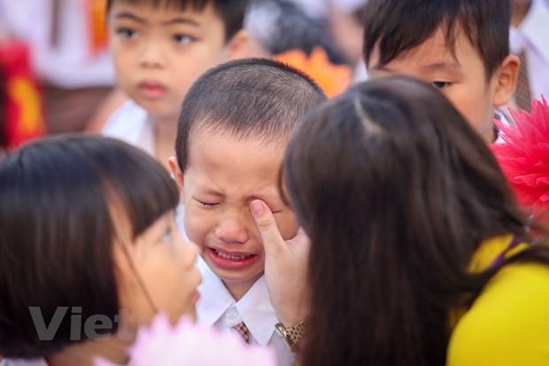 Khai giang o ngoi truong co so luong hoc sinh lop 1 dong ky luc Ha Noi hinh anh 9