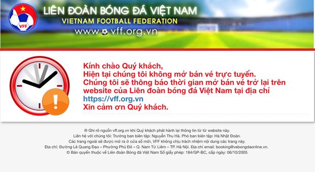 Website cua Lien doan Bong da Viet Nam khong the truy cap hinh anh 2