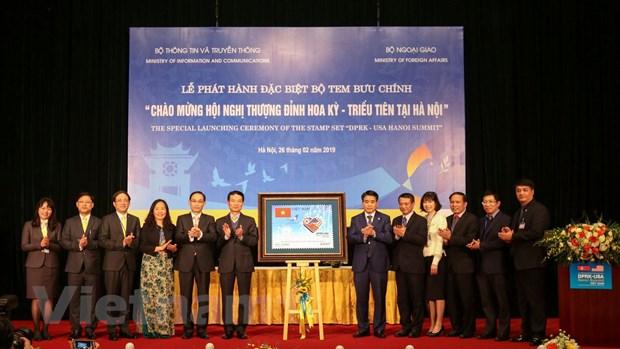 Chính thức phát hành bộ tem chào mừng Hội nghị Thượng đỉnh Mỹ-Triều - 2