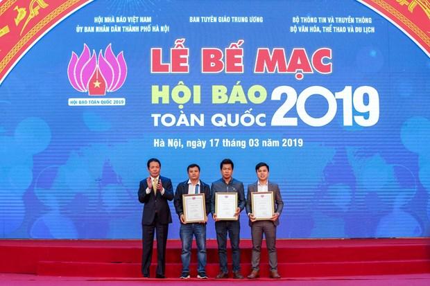 VietnamPlus gianh hai giai thuong tai Le Be mac Hoi bao toan quoc 2019 hinh anh 1