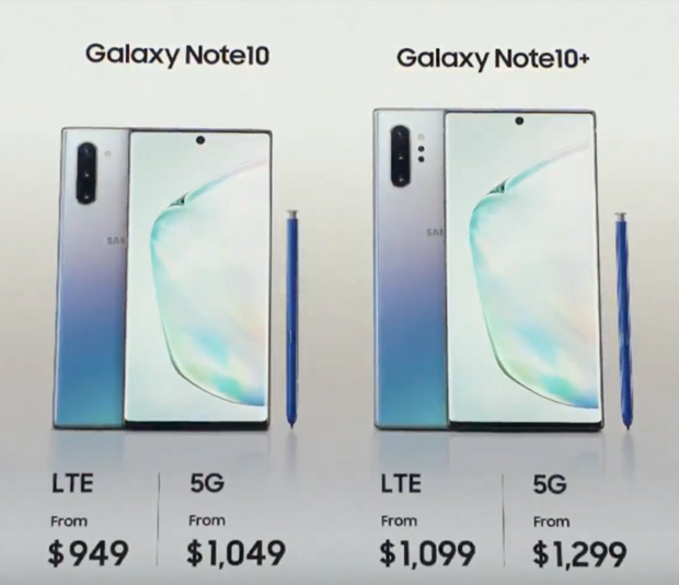 Samsung Galaxy Note 10 chinh thuc ra mat voi gia ban tu 949 USD hinh anh 3