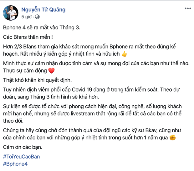 CEO BKAV Nguyen Tu Quang: Bphone 4 se ra mat vao thang Ba hinh anh 1