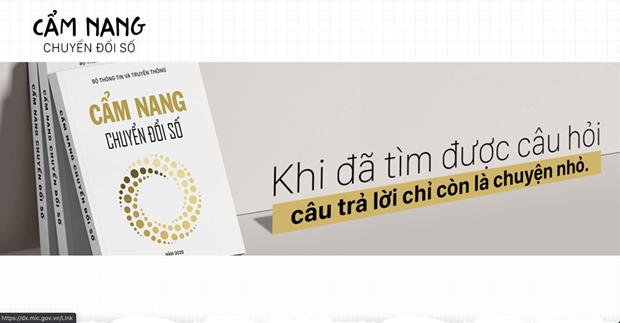 Cẩm nang Chuyển đổi số dành cho mọi người dân Việt Nam. (Ảnh chụp màn hình)