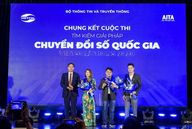 Vinh danh 3 san pham cong nghe tai chung ket cuoc thi Viet Solutions hinh anh 2