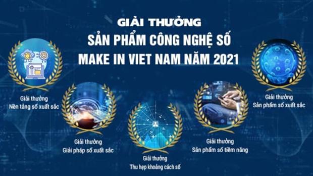 Phat dong giai thuong 'San pham Cong nghe so Make in Vietnam' 2021 hinh anh 1