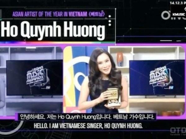 "Ho Quynh Huong duoc vinh danh tai ""Grammy cua chau A"" hinh anh 1"