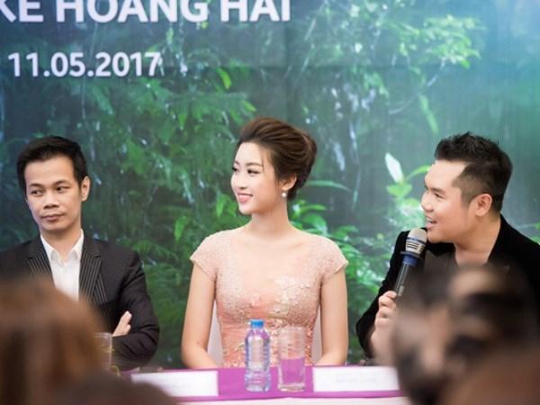 Hoa hau Do My Linh long lay nhu nang tho trong thiet ke cua Hoang Hai hinh anh 1