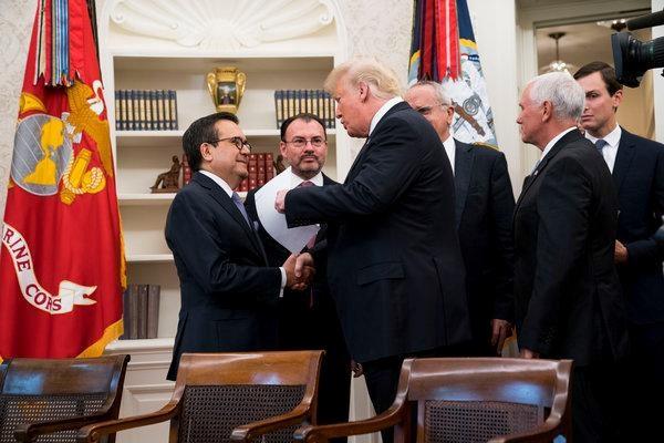 Nga re dau tien trong dam phan sua doi NAFTA giua My va Mexico hinh anh 1