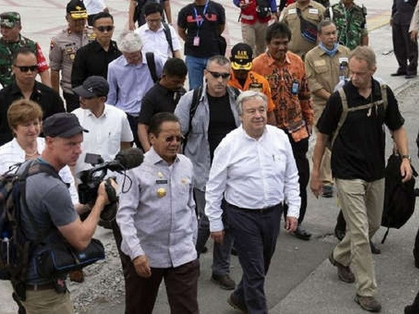 Tong thu ky LHQ A.Guterres tham khu vuc bi thien tai o Indonesia hinh anh 1