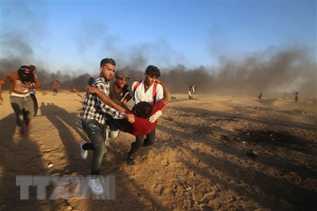 Dung do giua Israel va Palestine khien 6 nguoi thiet mang hinh anh 1