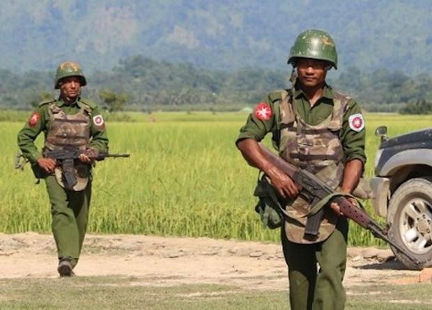 Myanmar tam ngung hanh dong quan su chong cac nhom vu trang hinh anh 1
