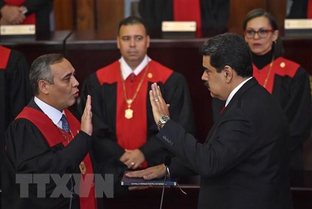 Tong thong Venezuela Nicolas Maduro nham chuc nhiem ky 2 hinh anh 1