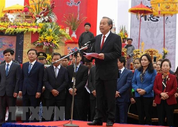 Pho Thu tuong Truong Hoa Binh du le cay tich dien tai tinh Ha Nam hinh anh 1