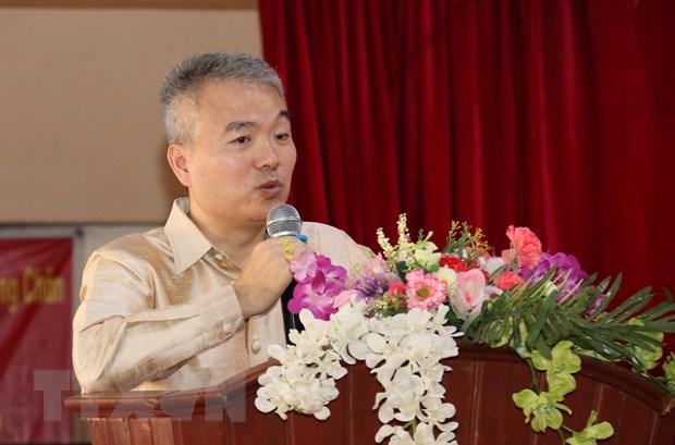 Trao qua cua Tong Bi thu, Chu tich nuoc cho Truong song ngu Lao-Viet hinh anh 2
